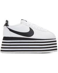 Comme des Garçons - Nike Striped Platform Cortez Sneakers - Lyst