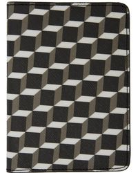 Pierre Hardy - Black And White Cube Perspective Passport Holder - Lyst
