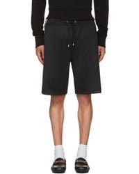 Gucci | Black Logo Tape Shorts | Lyst