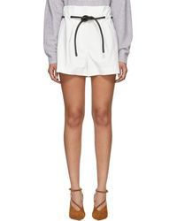 3.1 Phillip Lim - White Origami Pleated Shorts - Lyst