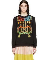 Peter Pilotto - Black Robe Embroideries Sweatshirt - Lyst