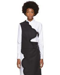 ShuShu/Tong - Black Asymmetric Petal Vest - Lyst