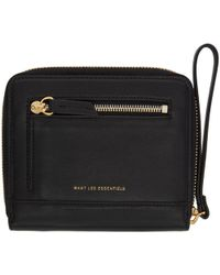 Want Les Essentiels De La Vie - Black Portela Zip Wallet - Lyst