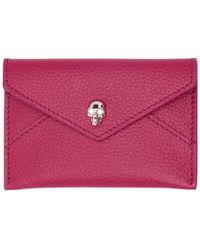 Alexander McQueen - Pink Envelope Card Holder - Lyst
