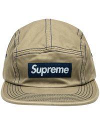 Supreme - Contrast Stitch Camp Cap - Lyst