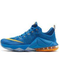 separation shoes dcf26 3edf2 Nike - Lebron 12 Low Photo Blue university Gold - Lyst