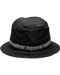 88833ab53401df Icon Brand Bucket Hat With Tonal Print in Black for Men - Lyst