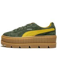 46d3272aede6d5 Lyst - PUMA Creeper Gold Toe Sneaker in White