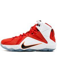 53920f64402 Nike - Lebron 12 University Red black - Lyst