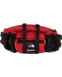 Supreme - Tnf Leather Mountain Waist Bag - Lyst