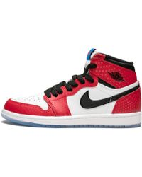 7785471c5c1540 Nike Air Jordan 1 Og Leather High-top Trainers in Red for Men - Lyst