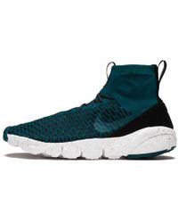 1e044c068aaf Lyst - Nike Air Footscape Magista Flyknit Black  Bright Crimson-gym ...