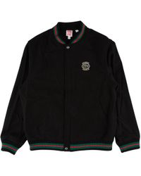 Supreme Lacoste Wool Varsity Jacket In Pink For Men Lyst