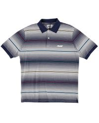 8de81662 Palace Waffle Twill Longsleeve Polo Shirt in Blue for Men - Lyst
