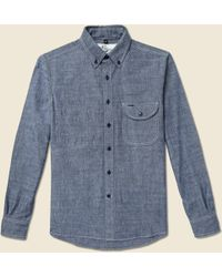 Rogue Territory - Jumper Shirt Blue Chambray - Lyst