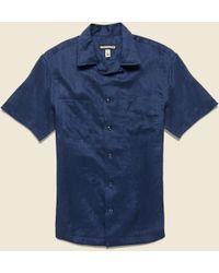 Monitaly - Vacation Shirt - Navy - Lyst