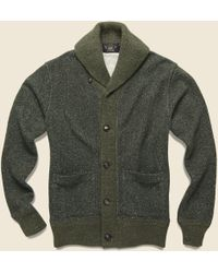 RRL - Donegal Shawl Collar Sweater - Olive - Lyst
