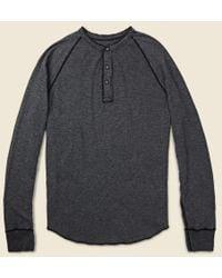 Save Khaki - - L/s Pointelle Henley - Ss15 - Lyst