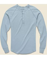 Save Khaki - Pointelle Henley - Light Blue - Lyst