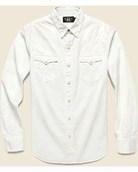 c2863596 Lyst - RRL Heritage Western - White in White for Men