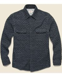 Faherty Brand - Quilted Snap Cpo Shirt Jacket - Black Heather - Lyst