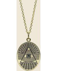 LHN Jewelry - All Seeing Eye Pendant - Brass - Lyst