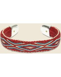 Chamula - Bendable Horsehair Bracelet - Ivory/red/blue - Lyst