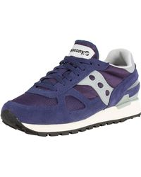 Saucony - Navy/white Shadow Original Vintage Trainers - Lyst