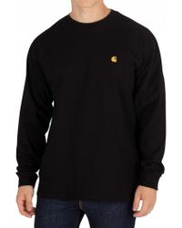 Carhartt WIP - Black/gold Chase Longsleeved T-shirt - Lyst