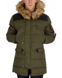 Alpha Industries - Dark Green N3-b Puffer Jacket - Lyst