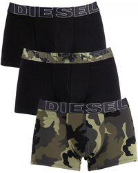 DIESEL - Camo/black 3 Pack Damien Trunks - Lyst