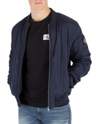Calvin Klein - Night Sky Quilted Bomber Jacket - Lyst