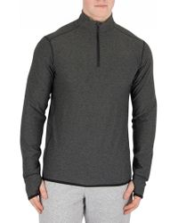 New Balance - Heather Charcoal Transit Quarter Zip Top - Lyst