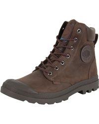 Palladium - Chocolate Pampa Cuff Wp Lux Boots - Lyst