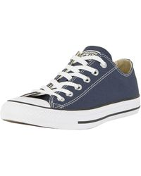 Converse - Navy All Star Ox Trainers - Lyst