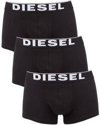 DIESEL - Black 3 Pack Kory Boxer Trunks - Lyst
