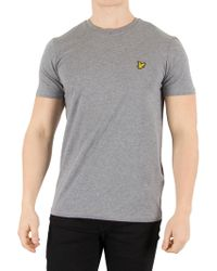 Lyle & Scott - Mid Grey Marl Logo T-shirt - Lyst