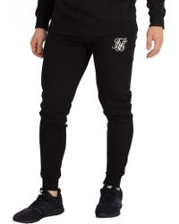 Sik Silk - Black Muscle Fit Joggers - Lyst