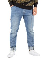 G-Star RAW Aged Heavy Stone Lanc 3d Straight Tapered Jeans