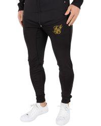 Sik Silk - Black/gold Zonal Logo Track Joggers - Lyst