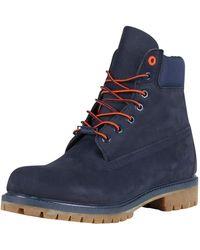 Timberland - Navy Nubuck Premium 6 Inch Waterproof Boots - Lyst