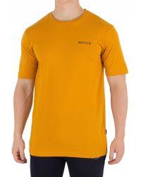 Nicce London - Golden Yellow Chest Logo T-shirt - Lyst
