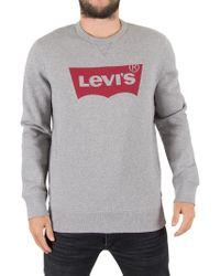 Levi's - Midtone Grey Graphic Batwing Sweatshirt - Lyst