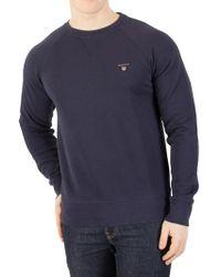 GANT - Marine Original Logo Sweatshirt - Lyst