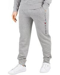 fc600761 Lacoste Slim Cuffed Fleece Pants in Gray for Men - Lyst