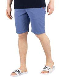 Superdry - Men's International Slim Chino Shorts, Blue Men's Shorts In Blue - Lyst