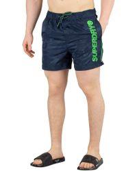 3bf364f105 Calvin Klein Jacquard Short Swim Shorts in Green for Men - Lyst
