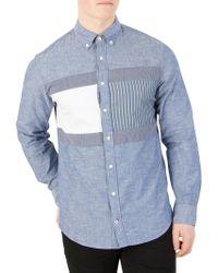 Tommy Hilfiger - Indigo Flag Patchwork Shirt - Lyst