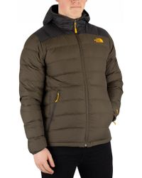 6d690c050b17c The North Face La Paz Hooded Jacket In Macrofleck Print in White for ...