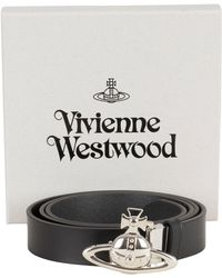Vivienne Westwood - Black Orb Buckle Palladio Belt - Lyst